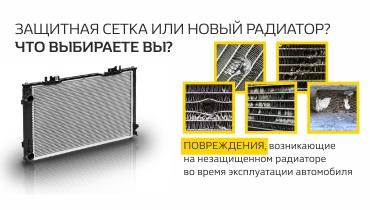 Защитная сетка радиатора по специальной цене.
