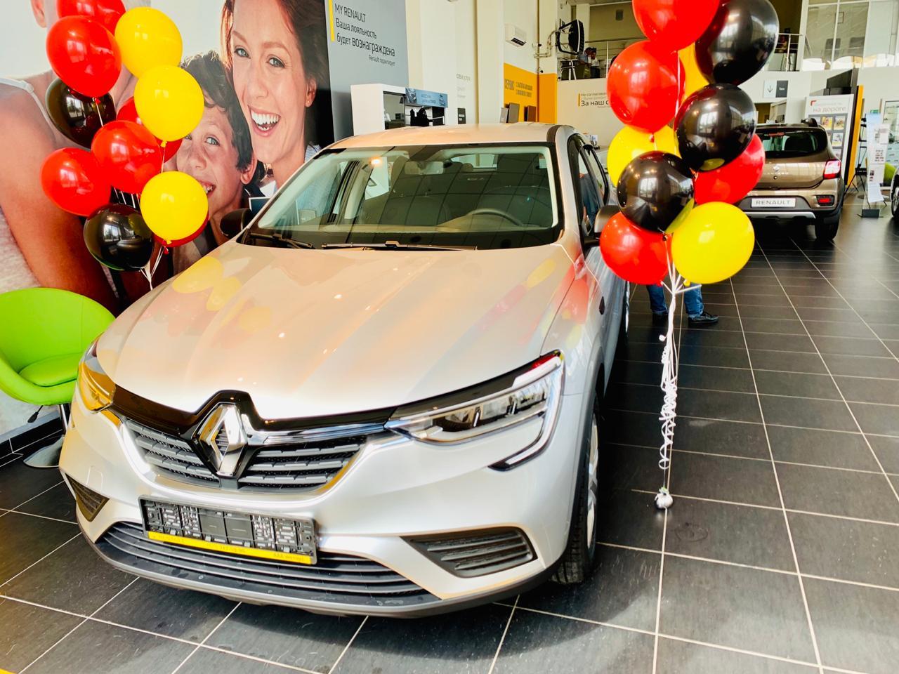 Renault Arkana: первый автомобиль выдан!